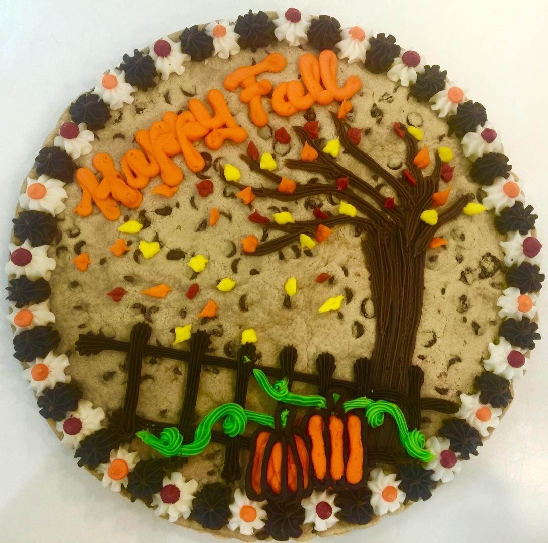 Custom Fall cookie cake