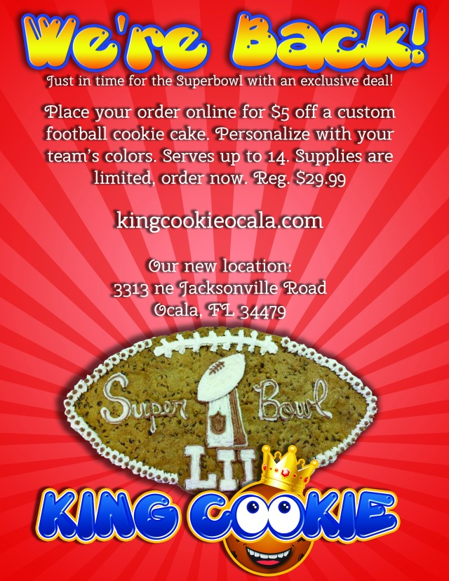 football cake flyer